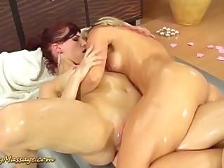 slippery nuru massage is her new job