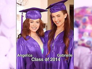 GIRLS GONE WILD Surprise graduation party teens ends up with lesbian sex