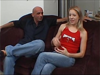 Easydater blond on a blind date get an unexpected creampie and freaks out
