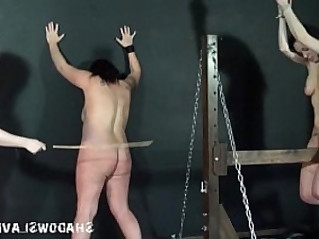 Lesbian spanking and extreme bondage of two english amateur girls
