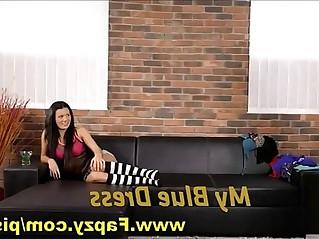 Slutty Teen Lesbian Takes Dildo While Pissing