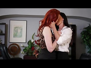 Lesbian office play ..