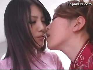 Cute Asian Girl In White Stocking Getting Her Nipples and Pussy Licked