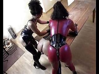 Latex Hardcore lesbian fetish